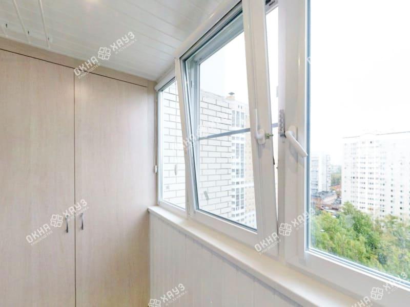 Остекление балкона в доме П-30