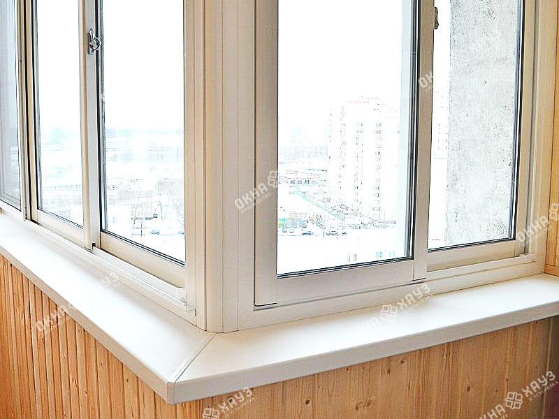 Остекление балкона в П-44